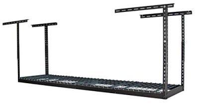 MonsterRax - 2x8 Overhead Garage Storage Rack - Height Adjustable Steel
