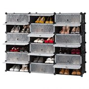 LANGRIA 18-Cube DIY Shoe Rack, Storage Drawer Unit Multi Use