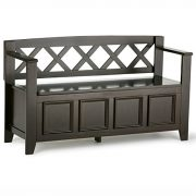 Amherst Solid Wood 48 inch Wide Transitional Entryway Storage Bench