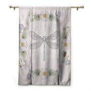 HCCJLCKS Decor Curtains Dragonfly Vintage Retro Farm Life Inspired Moth