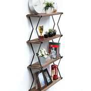JackCubeDesign Wall Mount Modern Industrial Metal Rustic Wood