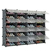 KOUSI Portable Shoe Rack Organizer 64 Pair Tower Shelf Storage