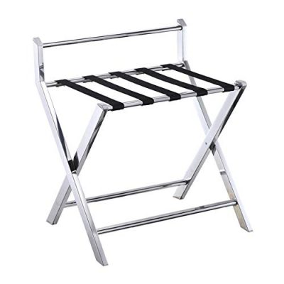 Folding Luggage Rack for Guest Room, 5 Nylon Belts