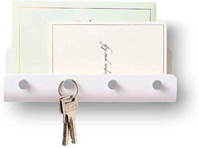 Adhesive Hooks Wall Key Hooks Holder Mail Letter Organizer Wall Key Holder
