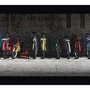 "Bike Rack by Cynthia Decker 19"" x 34"" Black Framed Canvas Giclee Art Print"