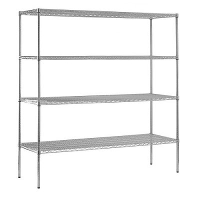 Sandusky Chrome Steel Heavy Duty Adjustable Wire Shelving