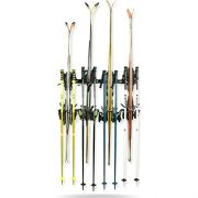 Koova Snow Ski Rack Wall Mount for Indoor Storage | Securely Holds 4 Pairs of Skis