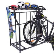 Mythinglogic Bike Rack, Bicycle Holder with Baskets Collection Organizer
