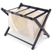 Tangkula Luggage Rack Folding Wood Suitcase Luggage Stand for Home Bedroom