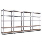 Giantex 4 Pcs 5-Tier Storage Shelves, Garage Shelving Units, Tool Utility Shelves