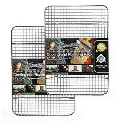 Stainless Steel Cooling, Baking & Roasting Small Wire Racks fit Quarter Sheet
