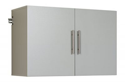 "Prepac Hang-Ups Upper Storage Cabinet, 36"", Light Gray"