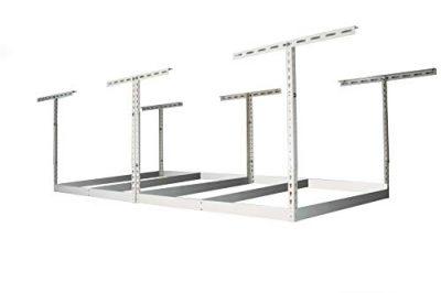 MonsterRax 4x8 Garage Storage Rack Without Decks - Height Adjustable Steel