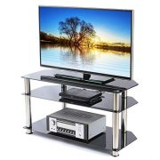 TAVR Tempered Glass Corner TV Stand Cable Management Suit