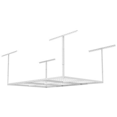 FLEXIMOUNTS Storage Rack, 4 x 6 ft, White