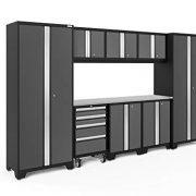 NewAge Products Bold 3.0 Gray 9 Piece Set, Garage Cabinets
