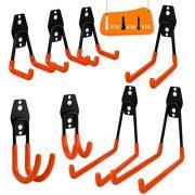 Garage Storage Utility Double Hooks, WOHOME 8-Pack Heavy Duty Wall Hooks