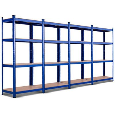 TANGKULA Metal Storage Shelves, 63 inches Heavy Duty Steel Frame