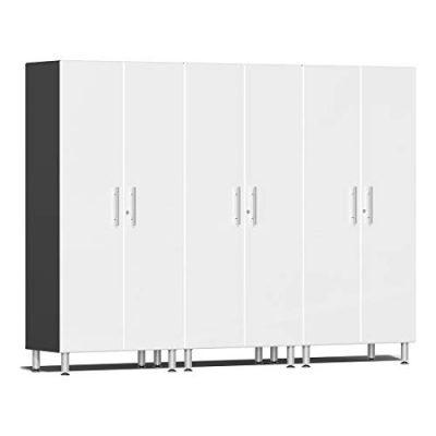 Ulti-MATE 3-Piece Tall Garage Cabinet Kit in Starfire White Metallic