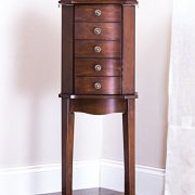 Hives & Honey Erin 5-Drawer Walnut Jewelry Armoire,