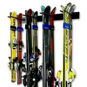 StoreYourBoard Ski Wall Storage Rack, Holds 8 Pairs, Steel Home and Garage Skis