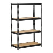 Muscle Rack Black Steel Storage Rack, 4 Adjustable Shelves, 2000 lb. Capacity