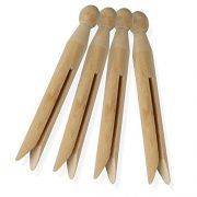 Honey-Can-Do Round Wooden Clothespins, 100 Pack