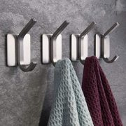 ZUNTO Towel Hook/Adhesive Hooks - Wall Hooks for Hanging Bathroom Stick