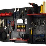 Wall Control Pegboard Organizer 4 ft. Metal Pegboard Standard Tool Storage Kit