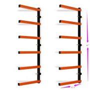 Six-Level 600 lb Capacity Lumber Storage Rack Wall-Mounted Both Indoor