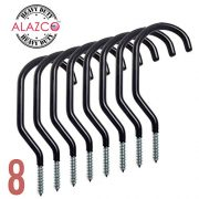 ALAZCO 8pc Heavy Duty Bike Hook & Utility Storage - Space Maximizer