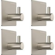 The Chestnut Wall Hooks Adhesive for Hanging Towels - Set of 4