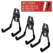 3pcs Garage Hanger Hooks for Hanging Ladder Hose Extension Cord Shovel Bike