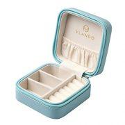 Vlando Small Travel Jewelry Box Organizer Display Case for Girls Women