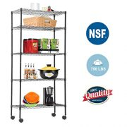 5-Tier Wire Shelving Unit Steel Large Metal Shelf Organizer Garage Storage Shelves