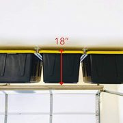 Overhead Garage Storage Rack - Organize Up to 13 Bin/Totes on The Ceiling