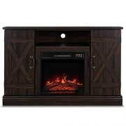 BELLEZE Veropeso 46 Inch Fireplace Heater Television Stand for TV's Up to 50""