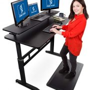 Stand Steady Tranzendesk 55 Inch Standing Desk with 55 Inch Clamp On Shelf