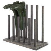 MyGift Distressed Gray Wood 6-Pair Boot Storage Rack