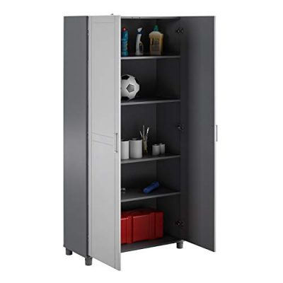"SystemBuild Callahan 36"" Utility Storage Cabinet, Gray"