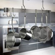 Enclume Premier 48-Inch Offset Hook Ceiling Bar Pot Rack, Stainless Steel