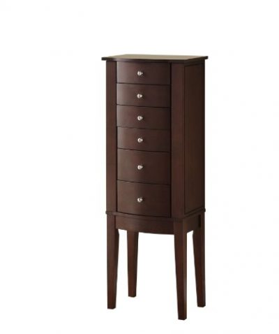 Powell Merlot Jewelry Armoire,