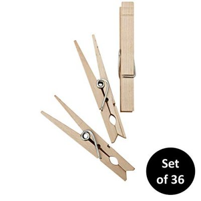 HOMZ Clothes pin, 36 Count, Natural Wood