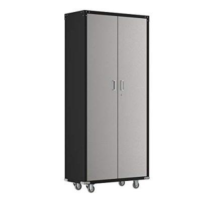 "AlightUp Upgraded 74"" Tall Steel Storage Cabinet Rolling Storage Locker"