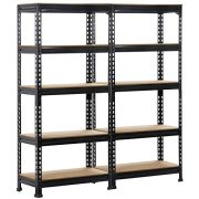 Yaheetech 2 Pack Shelving Units and Storage Shelves Heavy Duty Garage Shelving