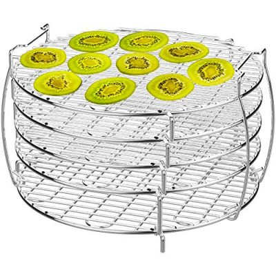 Dehydrator Rack, Grill Stand Air Fryer Rack with Five Stackable Layer