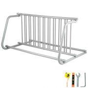 """BestEquip 59"""" Length Floor Bike Rack 10 Holders All-Steel Grid Bike Rack"""