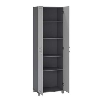 """SystemBuild Kendall 24"""" Utility Storage Cabinet, Gray"""