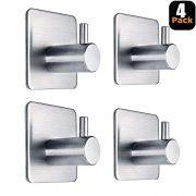 Adhesive Hooks Heavy Duty Wall Hooks Waterproof Stainless Steel Hooks