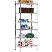 "Wire Shelving Unit Storage Shelves NSF Heavy Duty Office Bathroom Kitchen Adjustable Metal Shelves Rack with Leveling Feet 14"" x 24"" x 60"" 6 Tier Shelf Commercial Grade Utility Garage Shelving"